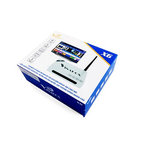 Android Tivi Box VINABOX X6, Chíp lõi tứ, Ram 2GB, Android 7.1.2