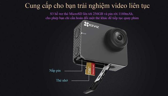 Camera thể thao EZVIZ CS-SP206-C0-68WFBS